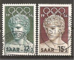 Saarland 1956 // Mi. 371/372 O (023.151) - Gebruikt