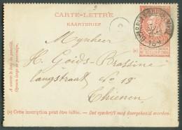 E.P. Carte-lettre 10 Centimes Fine Barbe Brun-rouge  Annulé Par La Cachet Sc De GLABBEEKSUERBEMPDE 31 Août 1897 - 10874 - Postbladen