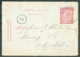 E.P. Carte-lettre 10 Centimes Emission 1884 Obl. Par La Cachet Sc De OPWYCK 7 Juin 1892 - 10875 - Postbladen