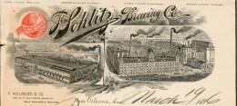Etats Unis - La New Orléans  Entête 1896 - Jos Schlitz.Brewing  Co. - - United States