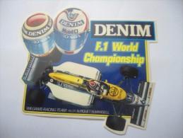 DENIM F.1 WORLD CHAMPIONSHIP - WILLIAMS RACING TEAM  -    STICKER  ADESIVO  AUTOCOLLANT - PUBBLICITARIO - Pegatinas