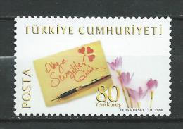 Turkey 2008 St Valentine's Day.1v.MNH - 1921-... Republic