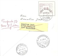 Brief  Parpan - St.Gallen - Morschach - St.Gallen             1978 - Suisse