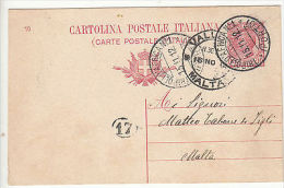 Malta: Postcard From Tripoli, Libya, To Malta, 15-16 November 1912 - Malta (...-1964)