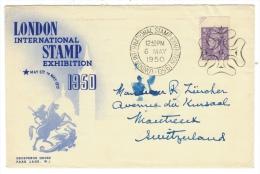 Grande-Bretagne // England  // Lettre 1er Jour  London Stamp Exhibition 1950 - 1902-1951 (Kings)