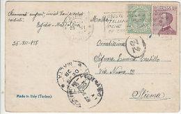 Malta: Postcard From Catania, Italy To Sliema, Malta, 28 December 1928 - Malta (...-1964)