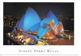 CP - PHOTO - SYDNEY - 707 - COLOURED FLOODLIGHTS ON SYDNEY OPERA HOUSE - Sydney