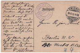 Nr.  6163,  Feldpost  Zwickau - Guerre 1914-18