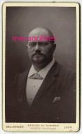 Beau Cliché CDV-familles NOEL-LHUILLIER...Emile GUEULIN (époux De Marie-louise?) Bellingard Lyon - Photographs