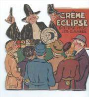 Découpi/Un Camelot Vante Les Mérites De La Crême  Eclipse/Cirage à Chaussures/vers 1930   DEC36 - Victorian Die-cuts