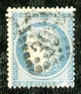 37 - 20c Bleu Cérès Siège - Oblitéré - 2° Choix - 1870 Siege Of Paris