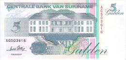 Suriname - Pick 136b - 5 Gulden 1996 - Unc - Suriname