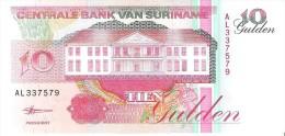 Suriname - Pick 137b - 10 Gulden 1998 - Unc - Surinam