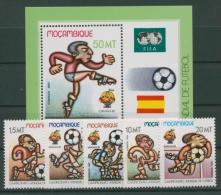 Mocambique 1982 Fußball-WM Spanien 884/88 Block 13 Postfrisch (R22171) - Mosambik