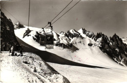 CHAMONIX Télécabine De La Vallée Blanche Départ De La Pointe Helbroner - Chamonix-Mont-Blanc