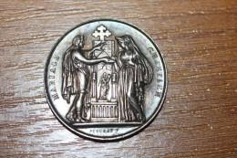 Médaille Religieuse De Mariage Fin XIXe - Argent 925 - Silver Religious Medal - Godsdienst & Esoterisme