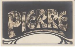 'Pierre' Large Letter First Name, C1900s/10s Vintage Postcard - Prénoms