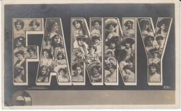 'Fanny' Large Letter First Name, C1910s Vintage Postcard - Prénoms
