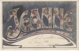 'Jeanne' Large Letter First Name, C1900s Vintage Postcard - Firstnames