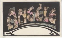 'Angele' Large Letter First Name, C1910s Vintage Postcard - Firstnames
