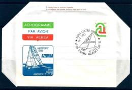1983 ITALIA AZZURRA  America's Cup    AEROGRAMMA IPZS Postale - Vela