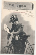 Premiere Page Du Journal LE VELO  -  Série Journaux Et Lecteur   -  Précurseur TTB  Timbrée - Cyclisme