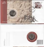 Greece - FDC, 2500 Years From The Battle Of Marathon, 08/10, With Coin 2 Euro, Unused - FDC
