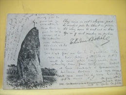 22 225  - UN MENHIR PRES DE PLOUBAZLANEC - 1901 - Ploubazlanec