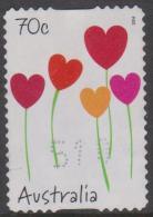 AUSTRALIA - DIECUT - USED 2014 70c Special Occasions - Heart Shaped Flowers - 2010-... Elizabeth II