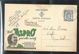 Publibel Obl. N° 544 ( Met ASPRO) Obl: Merksplas 29/05/1944 + Expres En Manuscrit - Publibels