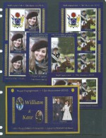 Aitutaki 2011 Prince William & Kate Engagement Set Of 6 Miniature Sheets & Sheetlets - Aitutaki