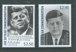 Aitutaki 2013 Kennedy JFK Anniversary Set Of 2 MNH - Aitutaki