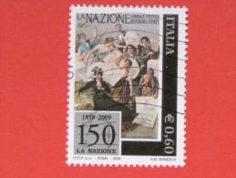 ITALIA USATI 2009 - 150° QUOTIDIANO LA NAZIONE - SASSONE 3111 - RIF. G 1971 - 6. 1946-.. Repubblica