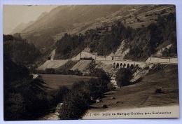 Chemin De Fer Martigny Orsières, M-O, TMR,  Valais Suisse, Près De Sembrancher Vers 1910, J.J. 9390