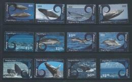 Aitutaki 2012 Whale & Dolphin Series I Set Of 12 MNH - Aitutaki