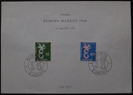 DEUTSCHLAND MI-NR. 295/96 GEDENKBLATT - CEPT 1958 (118) - Europa-CEPT