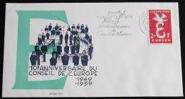 LUXEMBURG 1958 MI-NR. 590 Sonderstempel  (118) - Europa-CEPT