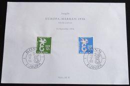 SAARLAND MI-NR. 439/40 GEDENKBLATT - CEPT 1958 (118) - 1958