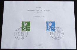 SAARLAND MI-NR. 439/40 GEDENKBLATT - CEPT 1958 (118) - Europa-CEPT