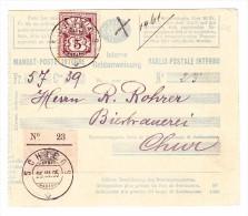 Heimat GR SCHIERS 25.3.1895 Mit 5Rp. WZ Auf Geldeinweisung Beleg Nach Chur - 1882-1906 Wappen, Stehende Helvetia & UPU