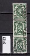 Belgien Mi.Nr. 421 Staatswappen  / 3-fach  /  O  Gestempelt - 1929-1937 Heraldischer Löwe