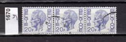 Belgien Mi.Nr. 1670 Y König Baudoin  / 3-fach  /  O  Gestempelt - Unclassified