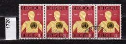 Belgien Mi.Nr. 1720 Welt-Gesundheitsorganisation WHO  / 4-fach  /  O  Gestempelt - Unclassified