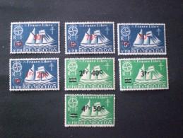 STAMPS St PIERRE & MIQUELON 1942 SERIES DE LONDRES SURCHANGES MNH - St.Pierre & Miquelon