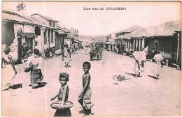 Carte Postale Ancienne De COLOMBO- Une Rue - Sri Lanka (Ceylon)