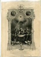 - GRAVURE DE 1ere COMMUNION . EAU FORTE  DE 1885 . DECOUPEE . - Religión & Esoterismo