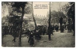 RB 1081 - Early Postcard - Fair Ground - Amusements Vale Of Health Hampstead Heath London - London Suburbs