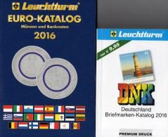 Deutschland Briefmarken/Münz-Katalog 2016 Neu 20€ Stamps DR Reich Saar Memel Danzig SBZ DDR Berlin AM BRD+coin Of EUROPA - Badges