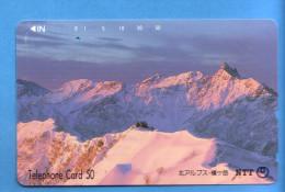 Japan Japon Telefonkarte Télécarte Phonecard Telefoonkaart - NTT Nr. 270 - 243 - Gebirgslandschaften
