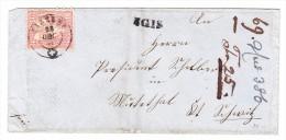 Heimat GR IGIS Balkenstempel Mit 10Rp. Sitzende 28.12.1868 Auf Brief Nach Muottathal SZ - 1862-1881 Sitzende Helvetia (gezähnt)